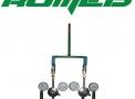 Central p/cilindro1x1 com chicote aço flexível