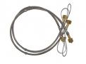 Chicote serpentina p/cilindro de aço flex 1,20 mts de ar comprim