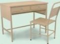 Mesa para Secretaria com 2 gavetas HM 2026 A / Cadeira de Aço Simples HM 2047