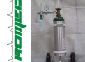 Carrinho c/sist. oxigenação c/cilindro 3 lts alumínio