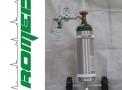 Carrinho c/sist. de oxigenação c/cilindro 5 lts aço