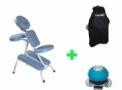 Kit Massagem - Cadeira para Massagem Rápida + Bolsa + Massageador (Cód. 332)