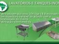 LAVATÓRIOS E TANQUES INOX (Fabricação sob Medida)