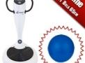 Plataforma Vibratória Horizontal Residencial Exercício Vibratório Corporal Viber Plet V109 - Johnson - GANHE: Bola 65cm