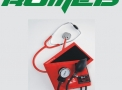 Conj. Ap. de pressão adulto nylon vermelho c/ estetoscópio BIC