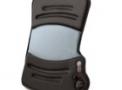 Encosto de massagem ajustável com aquecimento e adaptador veicular CUV-200 Cinza - Homedics