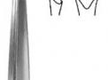 Rugina Farabeuf Reta 15cm X 12,5mm