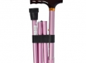 Bengala Tipo T dobrável Rosa Anodizado - MacroLife