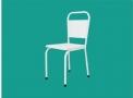 Cadeira Fixa em Aço Pintura Epóxi Branca Santa Luzia