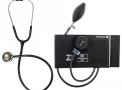 aparelho de pressão bic adulto nylon velcro + esteto inox preto