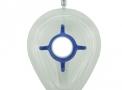 máscara facial descartável md coxim inflável com válvula e gancho azul nº1