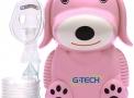 inalador nebulizador g-tech nebdog rosa bivolt