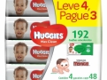 Toalha Umedecida Huggies Max Clean Turma da Mônica Leve 4 Pague 3 com 4 Pacotes de 48 Unidades cada