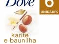 Sabonete em Barra Dove Delicious Care Karité Leve Mais Pague Menos com 6 Unidades de 90g cada