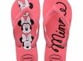 Sandálias Havaianas Top Disney Minnie Rosa Porcelana Tamanho 37/38 com 1 Par