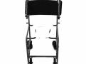 Cadeira de Rodas CDS Banho Modelo 201 Escam Banho e Sanitário Escamoteável Adulto, com Assento Anatômico Removível, Fixa, Freios Bilaterais, Pneus Maciços, Apoio para Braços e Pés Escamoteáveis