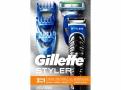 Aparelho de Barbear Gillette Fusion ProGlide Styler 3 em 1 com 1 Aparelho + 1 Cartucho + 3 Pentes + 1 Pilha AA