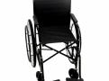 Cadeira de Rodas CDS Dobrável Modelo 102 Adulto com Braços Fixos, Pedais Fixos, Dobrável, Freios Bilaterais, Pneus Infláveis