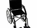 Cadeira de Rodas CDS Dobrável Modelo 101 Adulto com Braços Fixos, Pedais Fixos, Freios Bilaterais, Pneus Maciços