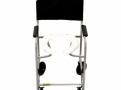 Cadeira de Rodas CDS Banho Modelo 201 Banho e Sanitário Adulto com Assento Anatômico Removível, Fixa, Freios Bilaterais, Pneus Maciços