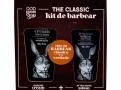 Kit QOD Barber Shop Creme de Barbear Shaving Cream 150g + Loção Pós Barba After Shave Lotion 80g