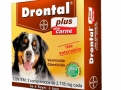 Drontal Plus 2.718mg Carne Vermicida para Cães Uso Veterinário com 2 Comprimidos