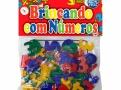 Brinquedo Brincando com Números Pais & Filhos com 56 Peças