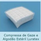 Compressa de Gaze e Algodão Estéril Luratex