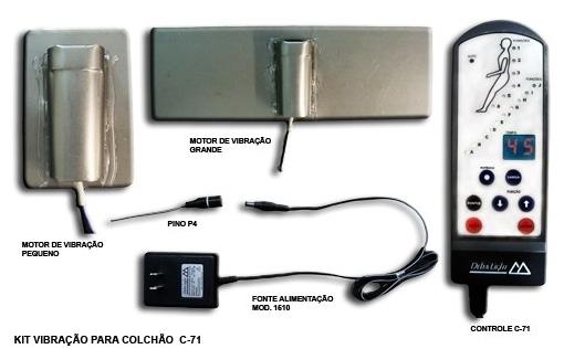 Kit Vibração para Colchão Fisiomedic