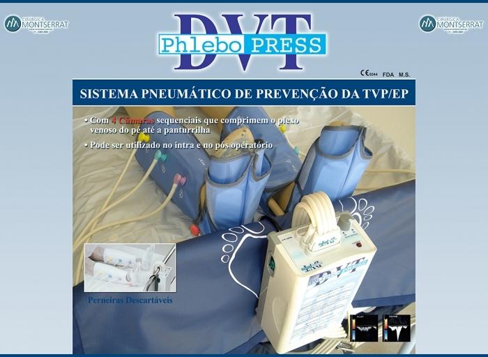 Phlebo Press DVT - Prevenção da Trombose Venosa Profunda e Embolia Pulmonar