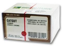 CATGUT CROMADO 2-0 C/24 75CM AG1/2 2.5CM