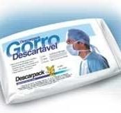 GORRO DESC.TIRAS BRANCO C/100
