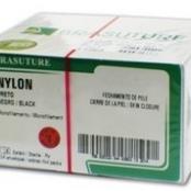 NYLON PRETO 3-0 C/24 45CM AG 3/8 2,00CM