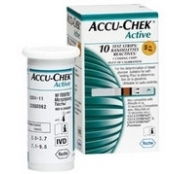 TIRAS ACCU-CHEK ACTIVE GLICOSE C/10