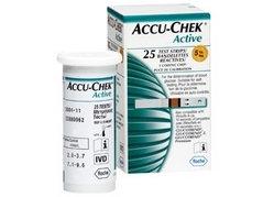 TIRAS ACCU-CHEK ACTIVE GLICOSE C/25