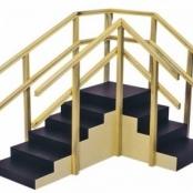 Escada de Canto sem Rampa e com (...)