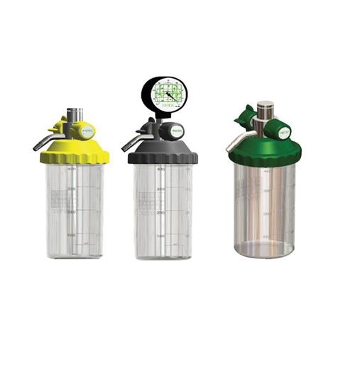 Aspirador venturi p/rede vácuo 400 ml frasco inquebrável