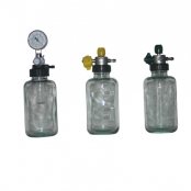 Aspirador Venturi oxigênio c/frasco de 500 ml vidro
