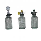 Aspirador p/rede de vácuo c/frasco de 500 ml vidro