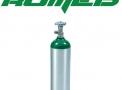 Cilindro de alumínio tipo-d vazio 3 litros o2