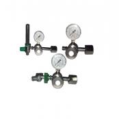 Válvula red. pressão p/cilindro 02 saídas de n2o