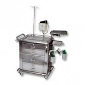 Carro Móvel de Parada Cárdio-Respiratória PCR-300 Aço Inox