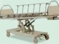 Cama Fawler Motorizada com Elevação, Cabeceira/Peseira Tubulares, Grades Inox Escamoteáveis HM 2004 J