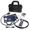 Aparelho de pressão com estetoscópio Rappaport,termômetro e bolsa - Premium (Kit Acadêmico)