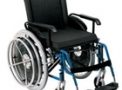 imagem de Cadeira de rodas alumínio AVD Hemiplégica 42cm azul - Ortobras