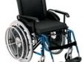 Cadeira de rodas alumínio AVD Hemiplégica 44cm azul - Ortobras