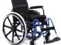 imagem de Cadeira de rodas AVD alumínio 42cm azul - Ortobras