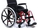 imagem de Cadeira de rodas AVD alumínio 42cm vinho - Ortobras