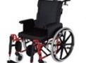 imagem de Cadeira de rodas AVD alumínio Reclinável 42cm vinho - Ortobras