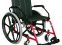 Cadeira de rodas em aço Cantu Plus 42cm vinho - Baxmann